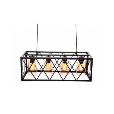 Lampa wisząca Lumina Deco LDP 11535-4 (BK) Nortis