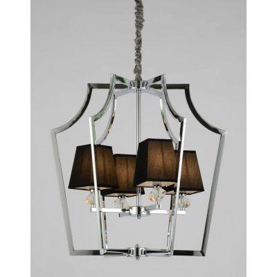 Lampa wisząca Lumina Deco LDP-1249-4-CHR+BK Montero
