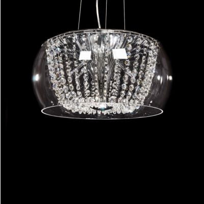 Lampa wisząca Lumina Deco LDP-7018-400-PR Disposa Clear D41