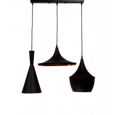 Lampa wisząca Lumina Deco LDP-7712-3-PR-BK Foggi Trio