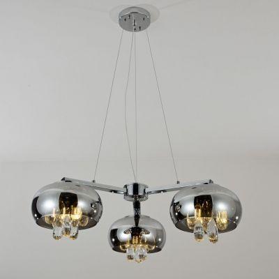 Lampa wisząca Lumina Deco LDP 8066-3-200 (CHR) Tosso Trio