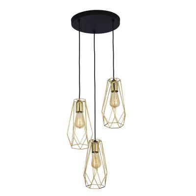 Lampa wisząca TK Lighting 2697 Lugo Gold