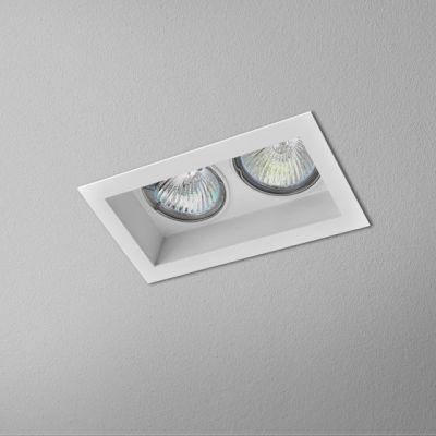 Lampa wpuszczana AQForm Minisquare x 2 230V Recessed Biały Struktura