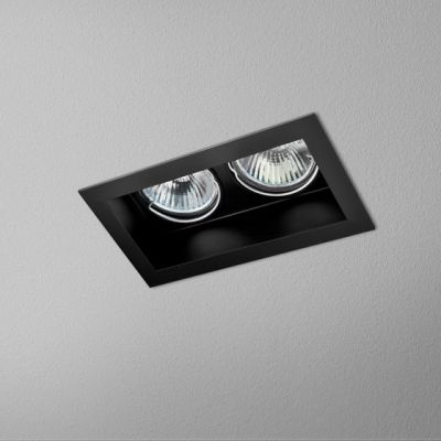Lampa wpuszczana AQForm Minisquare x 2 Recessed Czarny Struktura