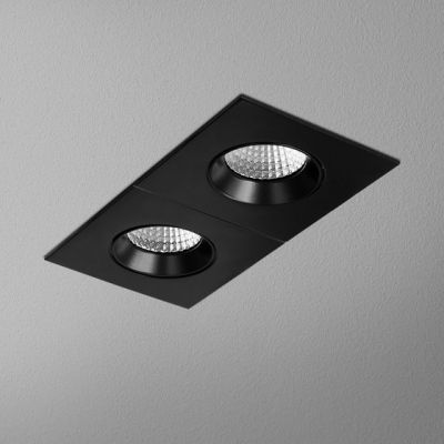 Lampa wpuszczana AQForm Hollow x 2 Square Move LED Recessed Czarny Struktura