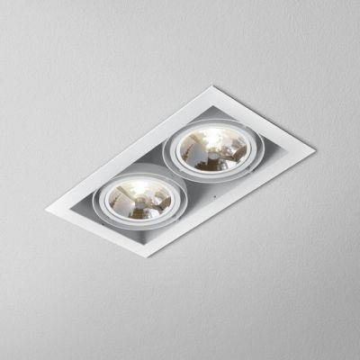 Lampa wpuszczana AQForm Squares 111 x 2 Recessed Biały Struktura