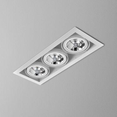 Lampa wpuszczana AQForm Squares 111 x 3  Recessed Biały Struktura