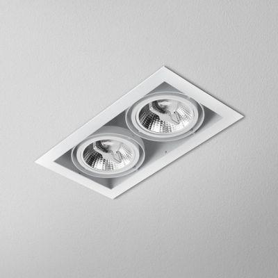 Lampa wpuszczana AQForm Squares 111 x 2 230V Recessed Biały Struktura