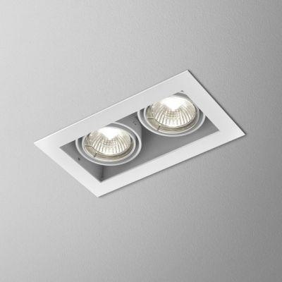 Lampa wpuszczana AQForm Squares 50 x 2 Recessed Biały Struktura