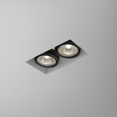 Lampa wpuszczana AQForm Squares 50 x 2 Trimless Recessed Czarny Struktura