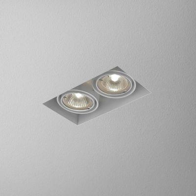 Lampa wpuszczana AQForm Squares 50 x 2 Trimless Recessed Biały Struktura