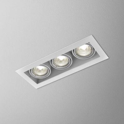 Lampa wpuszczana AQForm Squares 50 x 3  Recessed Biały Struktura