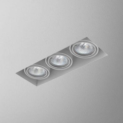 Lampa wpuszczana AQForm Squares 50 x 3 Trimless 230V Recessed Biały Struktura