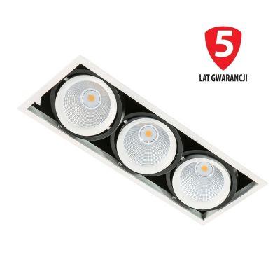 Lampa wpuszczana LED Italux GL7108-3-3X18W-3000K-WHBL Vertico Triple 3000K