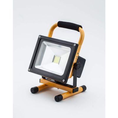 Naświetlacz LED Professional 20W z akumulatorem IP65 CW