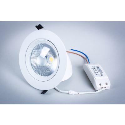 Oprawa LED Greenie downlight zmienny kąt biała 12W
