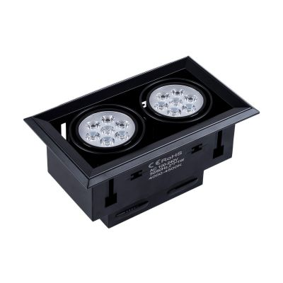 Oprawa LED Greenie Manhattan 2x7x1 PowerLED 16W czarna obudowa