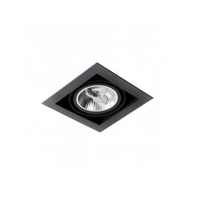 Oprawa podtynkowa AQform 37511-0000-U8-PH-12 SQUARES 111x1 trimless 230V Czarny struktura