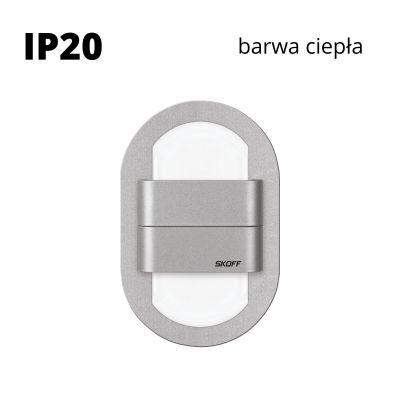 Oprawa schodowa LED Skoff Duo Rueda Alu Biała ciepła IP20