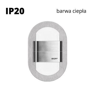 Oprawa schodowa LED Skoff Duo Rueda Szlif Biała ciepła IP20