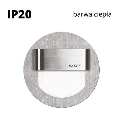 Oprawa schodowa LED Skoff Rueda szlif Biała ciepła IP20