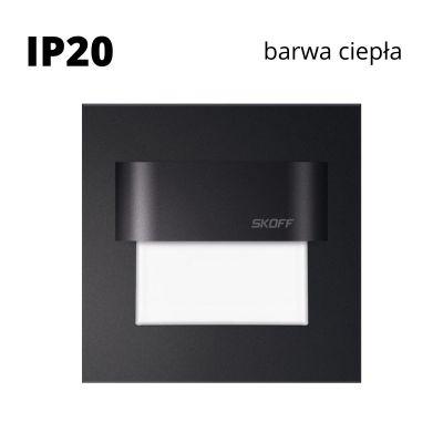 Oprawa schodowa led Skoff Tango Czarna Biała ciepła IP20