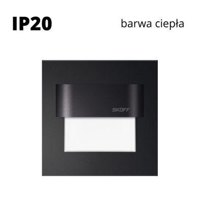 Oprawa schodowa LED Skoff Tango Stick Czarna Biała ciepła IP20