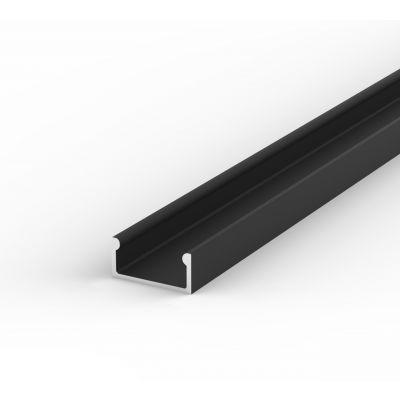 Profil LED Greenie P4-1C2 2m czarny lakierowany nawierzchniowy