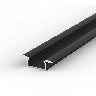 Profil LED Greenie P6-1C 1m czarny lakierowany wpuszczany