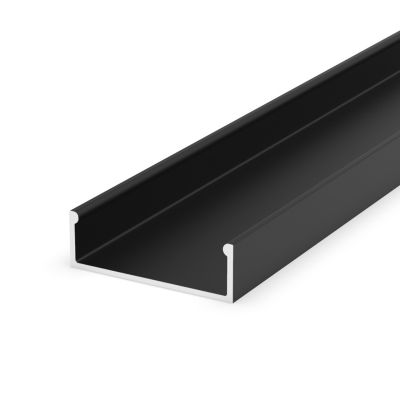 Profil LED Greenie P13-1C 1m nawierzchniowy czarny lakierowany