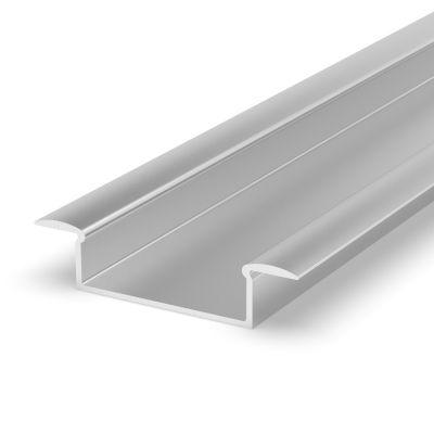 Profil LED Greenie 1M - wpuszczany szeroki srebrny anodowany