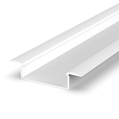 Profil LED Greenie P14-1B2 2m wpuszczany szeroki biały lakierowany
