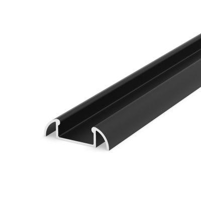 Profil LED Greenie P2-1B2 2m nawierzchniowy czarny lakierowany