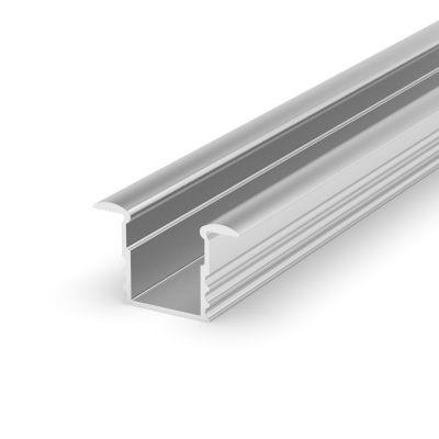 Profil led 2M - wpuszczany głęboki srebrny anodowany