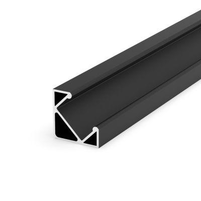 Profil LED Greenie 1m Typ C - kątowy czarny lakierowany