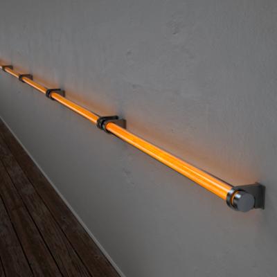 Poręcz podświetlana LED Wooden REED Oak Stal nierdzewna Wi-fi Control