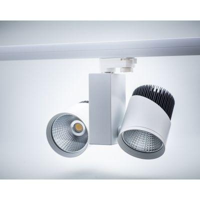 Reflektor Szynowy 3-fazowy LED GreenieD COB 2x20W podwójny biało-czarny