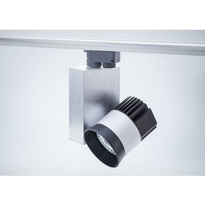Reflektor szynowy LED COB 20W obudowa aluminiowo-czarna