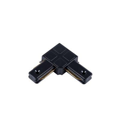 Łącznik Greenie do szyn 1-fazowych 90° czarny - LED