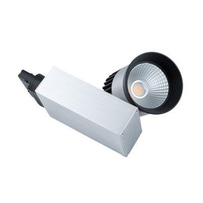 Reflektor szynowy 3-fazowy LED COB 20W aluminiowo-czarny