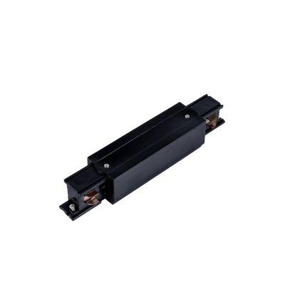 Konektor środkowy do szyn 3-fazowych czarny - LED