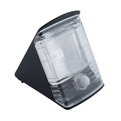 Solarna lampa fasadowa LED Greenie Solar Black