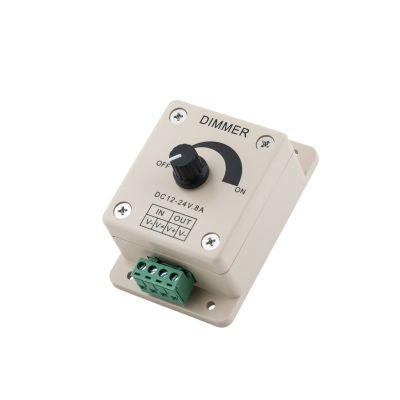 Ręczny potencjometr Greenie - ściemniacz do taśm i listew LED 12V o mocy do 96W