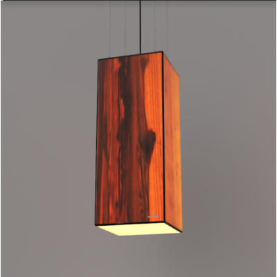 Lampa wisząca LED Wooden TIMBER Walnut Wi-fi Control