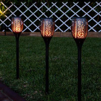 Pochodnia LED Solarna Efekt Promienia z Bolcem 1W