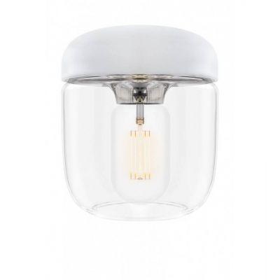 Lampa wisząca Umage 2104 Acorn White Polished Steel + zawieszenie w komplecie