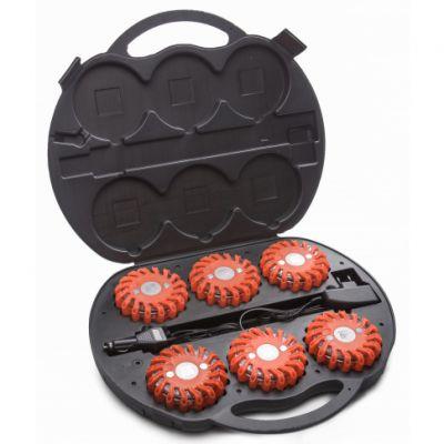 Zestaw 6 x Dysk do sygnalizacji Mactronic bursztynowy + walizka