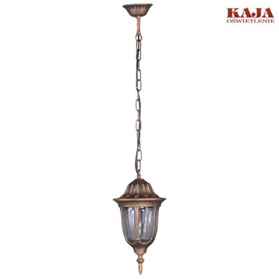 Lampa zewnętrzna wisząca Kaja K-5007H/N czarno-złota