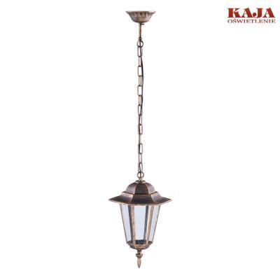 Lampa zewnętrzna wisząca Kaja K-5009H czarno-złoty