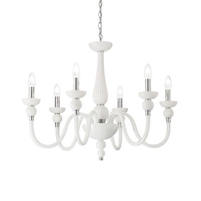 Żyrandol Ideal Lux 113678 Doge SP6 Bianco
